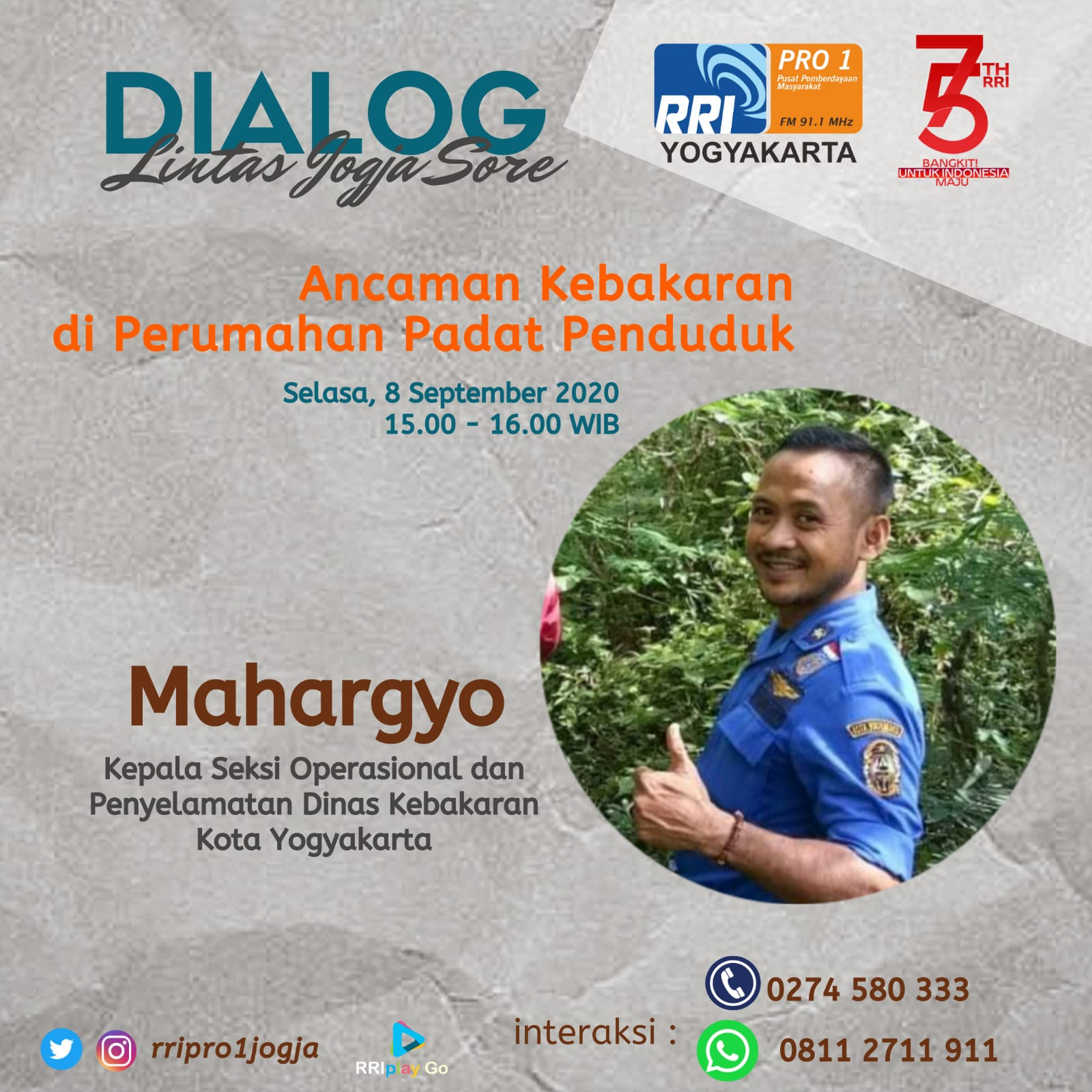 Dialog Lintas Jogja Sore bersama Damkar Kota Yogyakarta